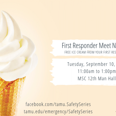 Start off your semester with a FREE Blue Bell ice cream from your first responders! Come visit ou...