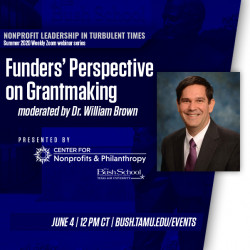 Nonprofit Leadership In Turbulent Times: Funders' Perspective on Grantmaking