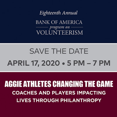Bank of America Program on Volunteerism April 17, 2020
